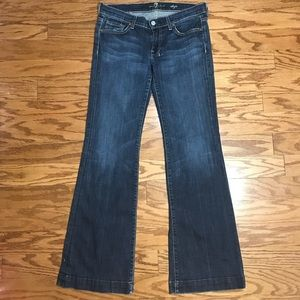 7 For All Mankind Dojo Jeans Dark Wash Sz 27